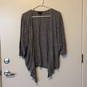 """5 For $25"" Mossimo Gray Open Cardigan"